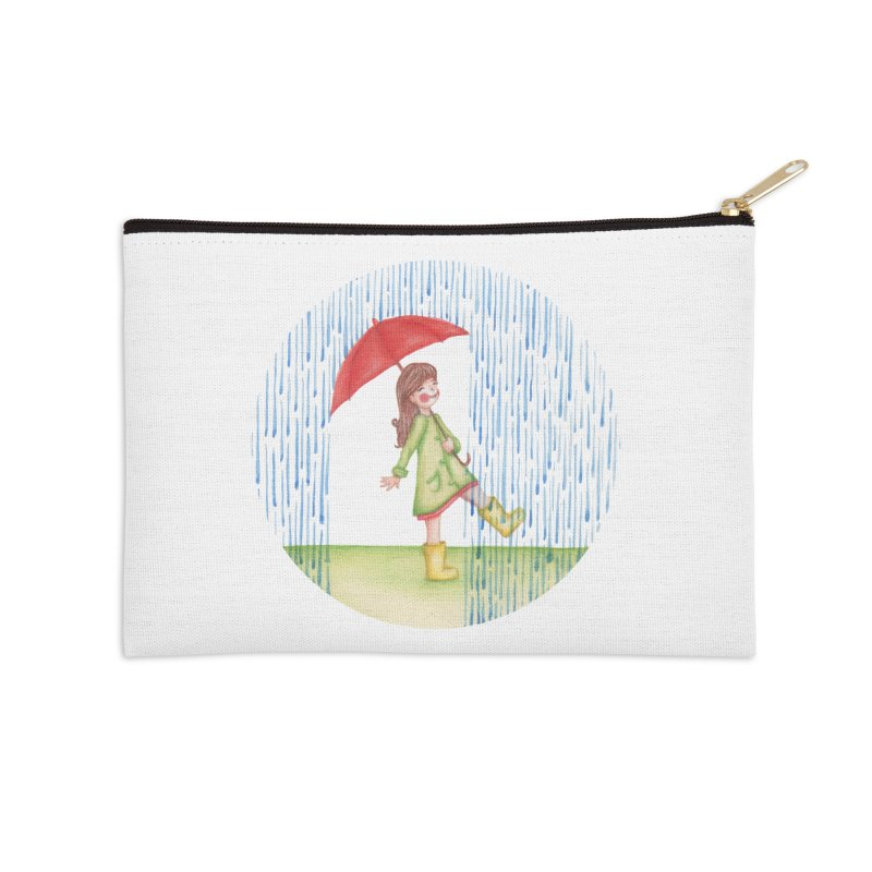 Dancing in the Rain Accessories Zip Pouch by Angelilu's Artist Shop