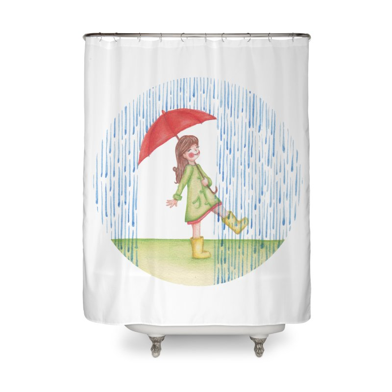 Dancing in the Rain Home Shower Curtain by Angelilu's Artist Shop