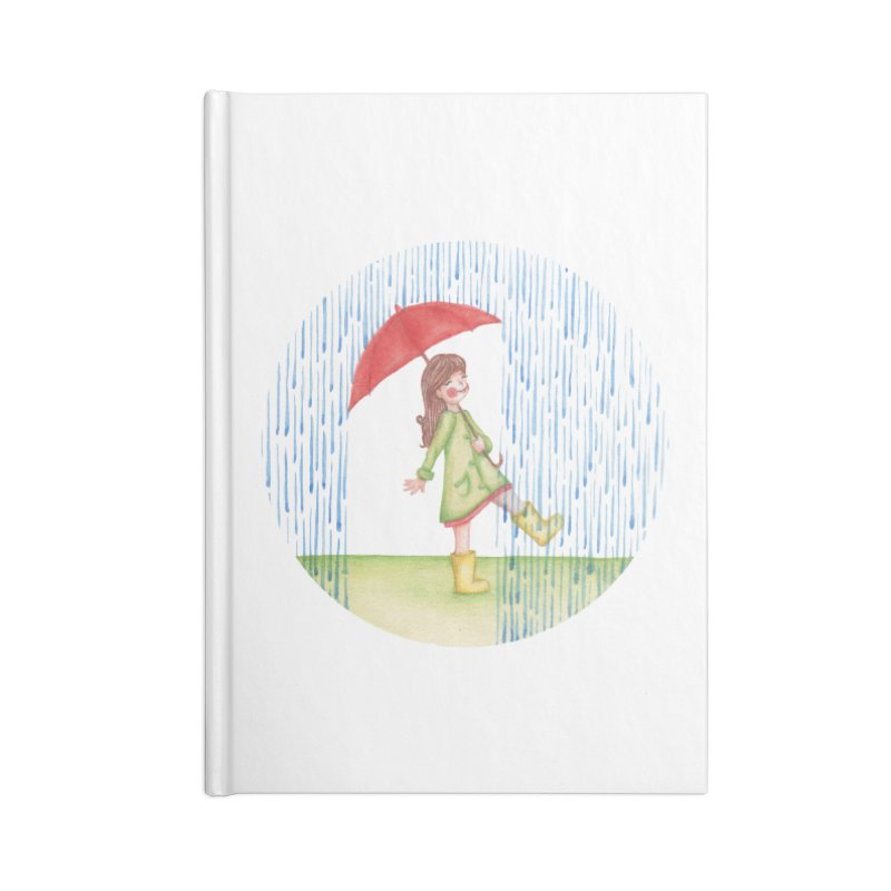 Dancing in the Rain Accessories Lined Journal Notebook by Angelilu's Artist Shop