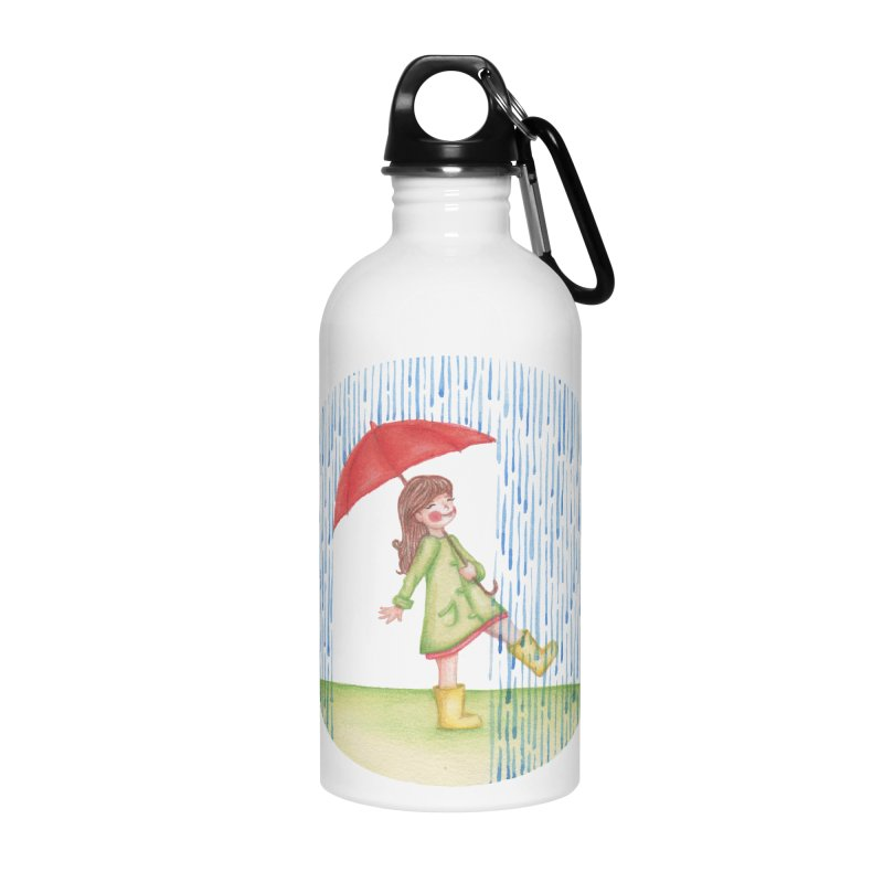 Dancing in the Rain Accessories Water Bottle by Angelilu's Artist Shop
