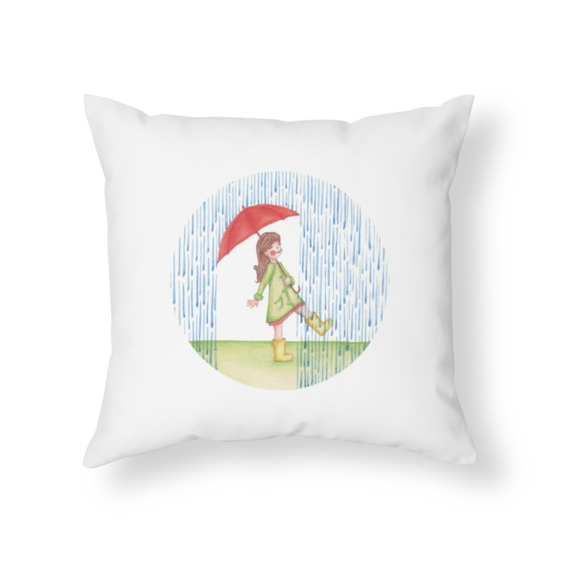 Dancing in the Rain Home Throw Pillow by Angelilu's Artist Shop