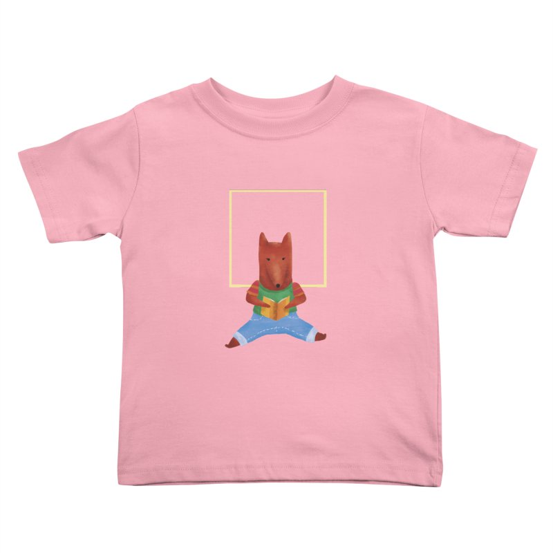 Nina Fox Reading Kids Toddler T-Shirt by Angelilu's Artist Shop