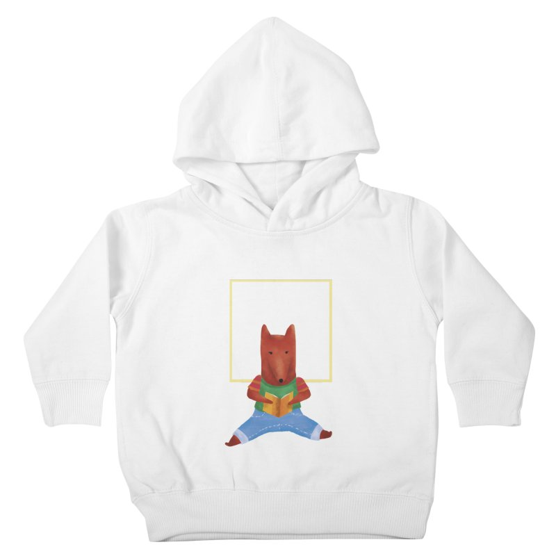 Nina Fox Reading Kids Toddler Pullover Hoody by Angelilu's Artist Shop