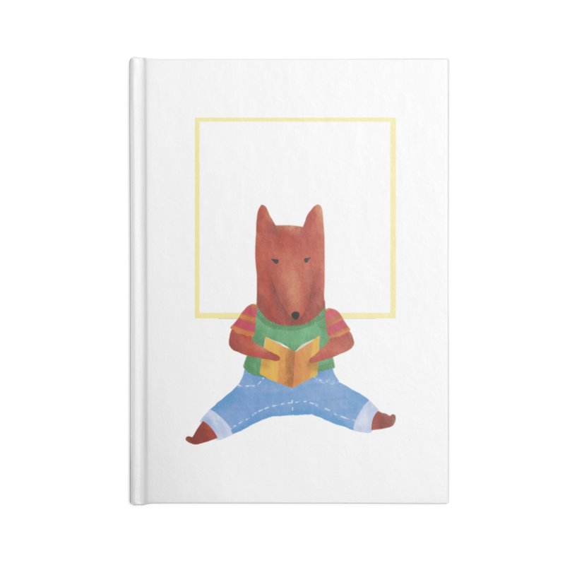 Nina Fox Reading Accessories Lined Journal Notebook by Angelilu's Artist Shop