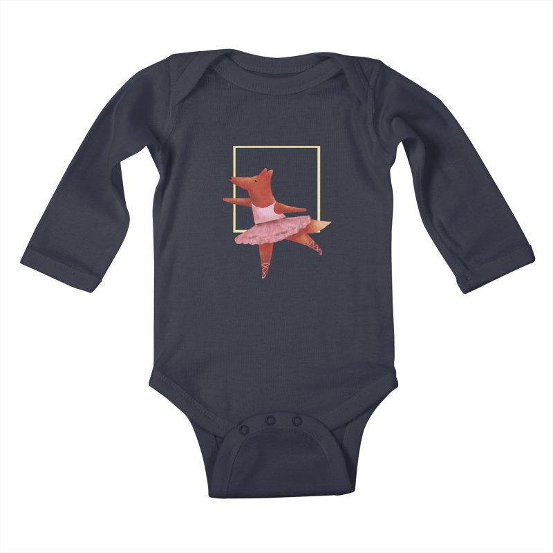 Nina Fox Ballet Kids Baby Longsleeve Bodysuit by Angelilu's Artist Shop