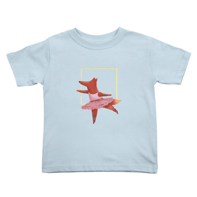 Nina Fox Ballet Kids Toddler T-Shirt by Angelilu's Artist Shop