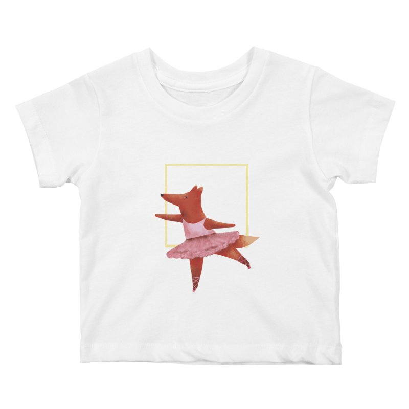 Nina Fox Ballet Kids Baby T-Shirt by Angelilu's Artist Shop