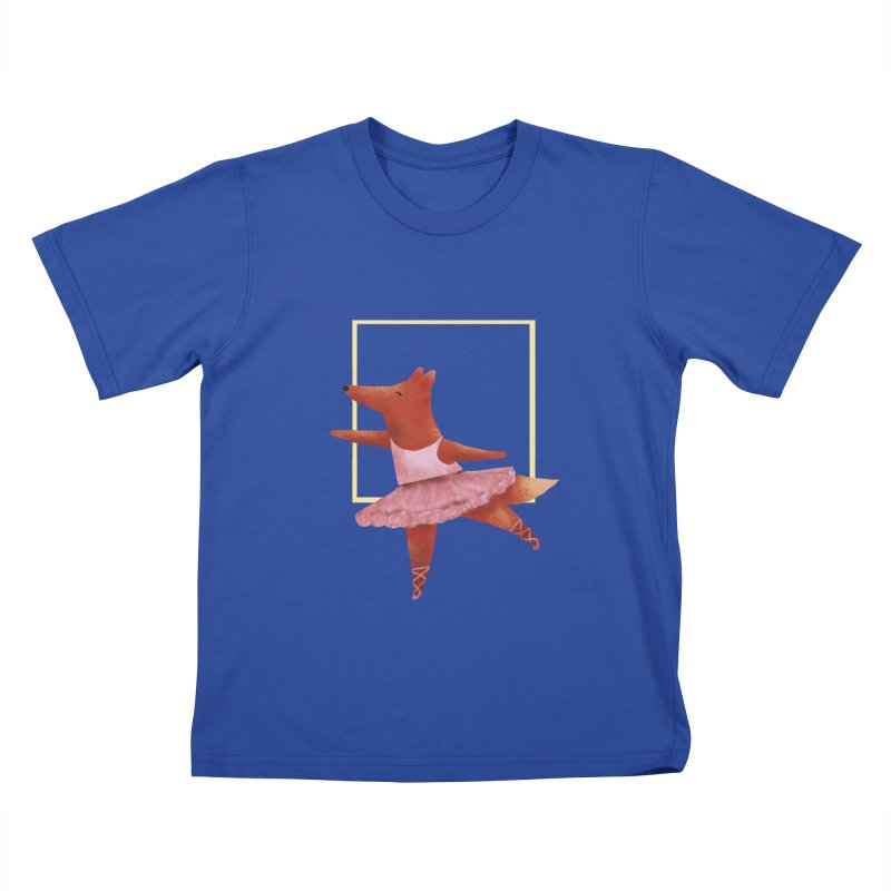 Nina Fox Ballet Kids T-Shirt by Angelilu's Artist Shop