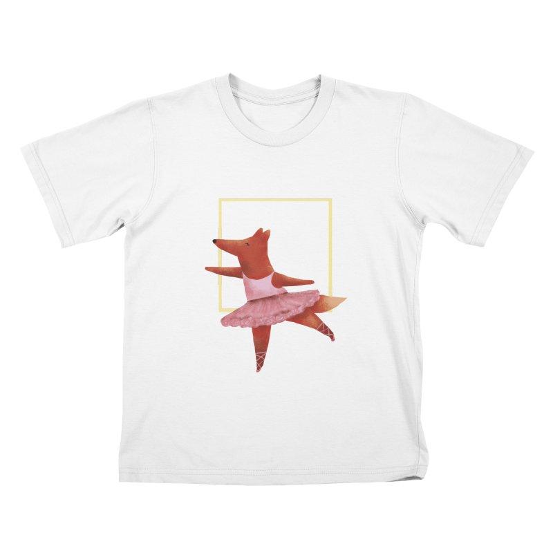 Nina Fox Ballet Kids T-Shirt by Angelilu's Artist Shop