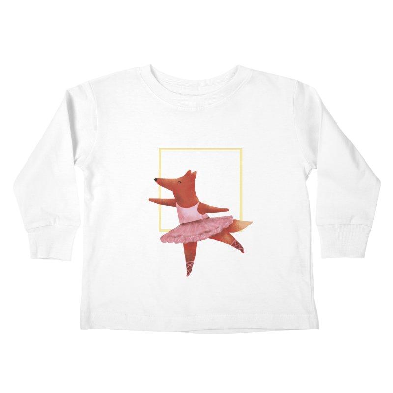 Nina Fox Ballet Kids Toddler Longsleeve T-Shirt by Angelilu's Artist Shop