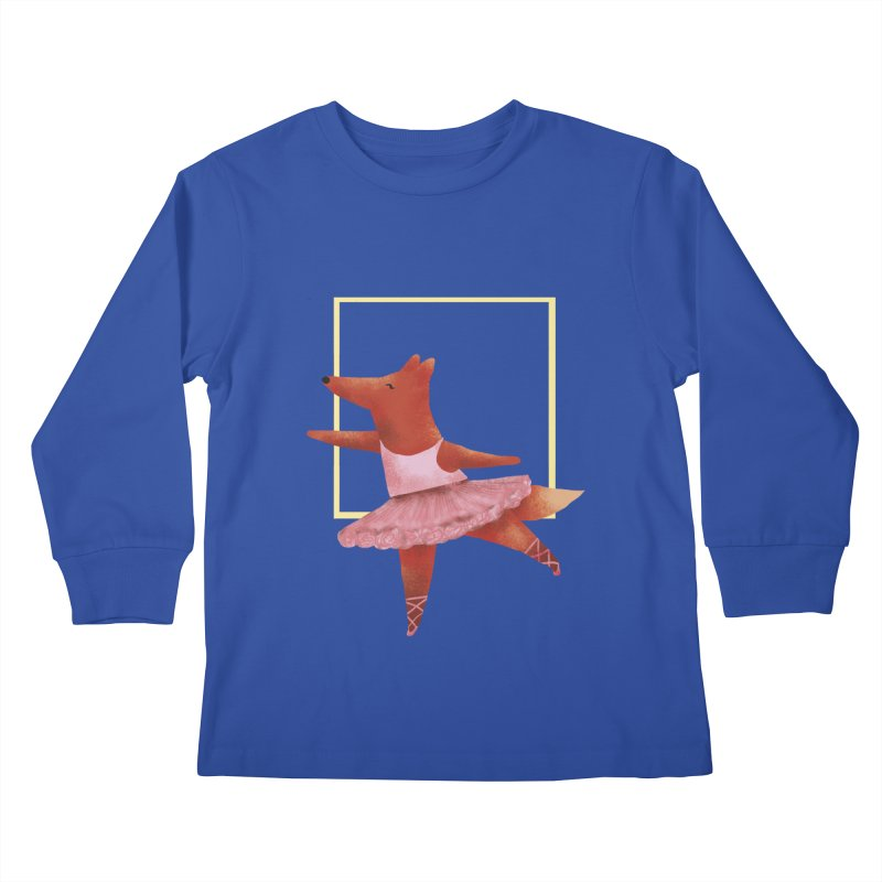 Nina Fox Ballet Kids Longsleeve T-Shirt by Angelilu's Artist Shop