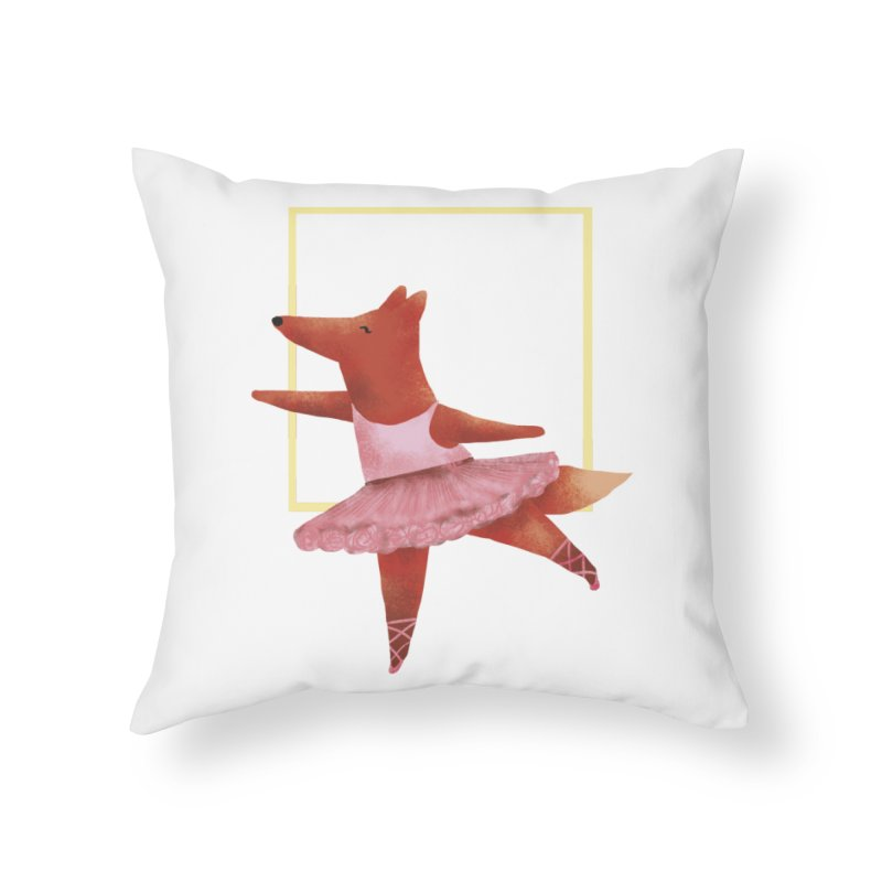 Nina Fox Ballet Home Throw Pillow by Angelilu's Artist Shop
