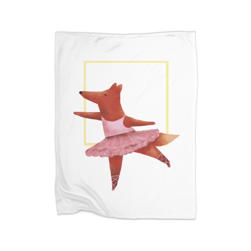 Nina Fox Ballet Home Fleece Blanket Blanket by Angelilu's Artist Shop