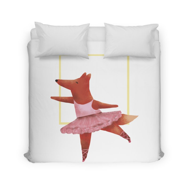 Nina Fox Ballet Home Duvet by Angelilu's Artist Shop