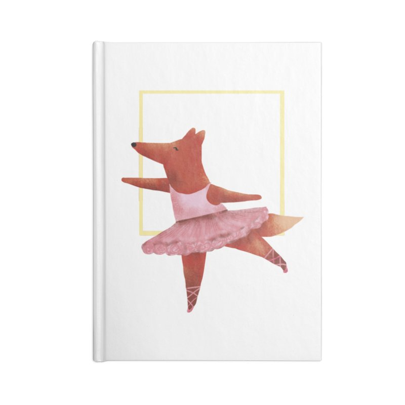 Nina Fox Ballet Accessories Blank Journal Notebook by Angelilu's Artist Shop