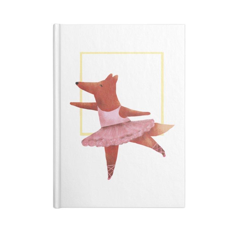 Nina Fox Ballet Accessories Lined Journal Notebook by Angelilu's Artist Shop