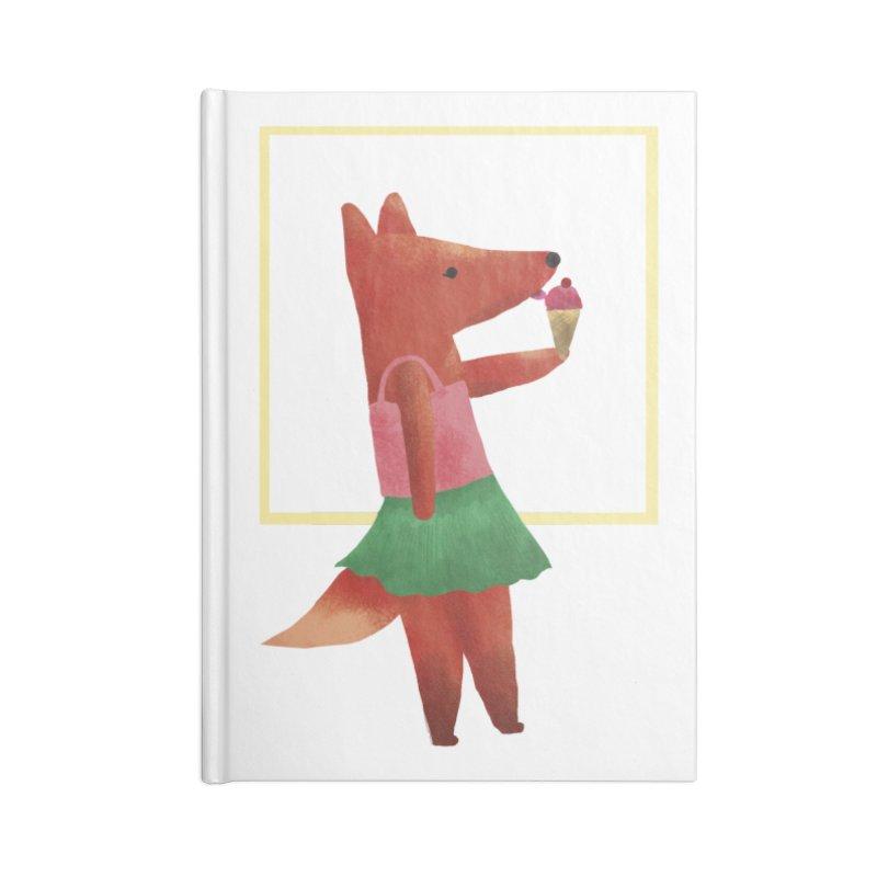 Nina Fox Ice Cream Accessories Blank Journal Notebook by Angelilu's Artist Shop