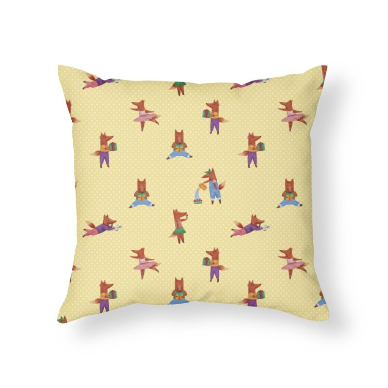 Nina Fox Pattern Home Throw Pillow by Angelilu's Artist Shop