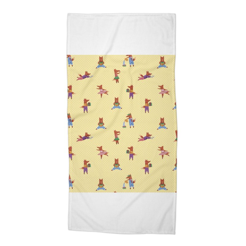 Nina Fox Pattern Accessories Beach Towel by Angelilu's Artist Shop