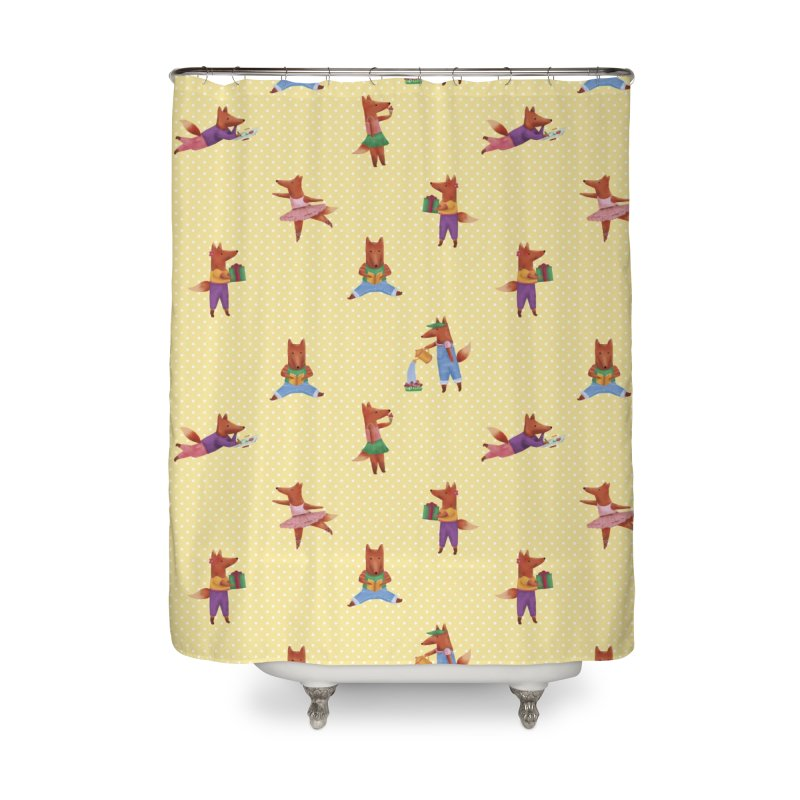 Nina Fox Pattern Home Shower Curtain by Angelilu's Artist Shop