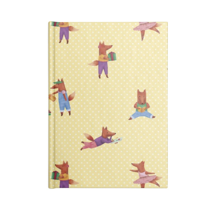 Nina Fox Pattern Accessories Blank Journal Notebook by Angelilu's Artist Shop