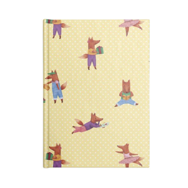 Nina Fox Pattern Accessories Lined Journal Notebook by Angelilu's Artist Shop