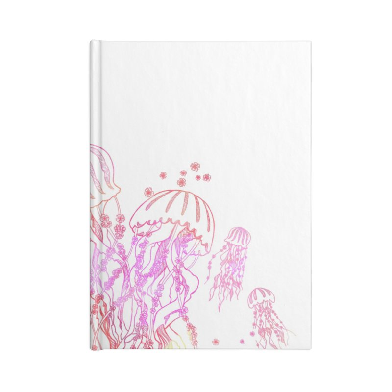 Sakura Jellyfish Accessories Lined Journal Notebook by Angelilu's Artist Shop
