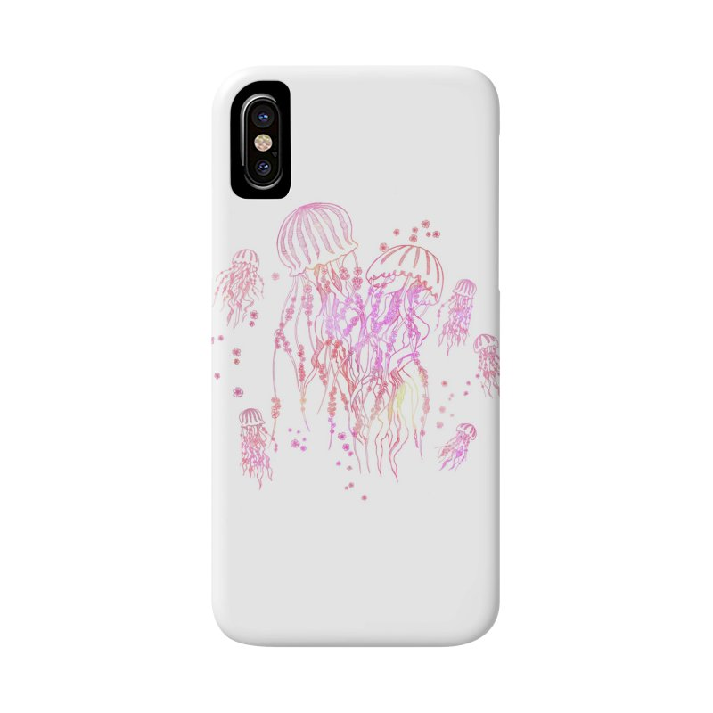 Sakura Jellyfish Accessories Phone Case by Angelilu's Artist Shop
