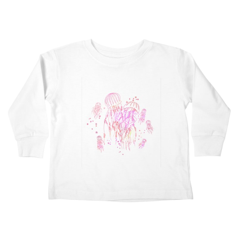 Sakura Jellyfish Kids Toddler Longsleeve T-Shirt by Angelilu's Artist Shop