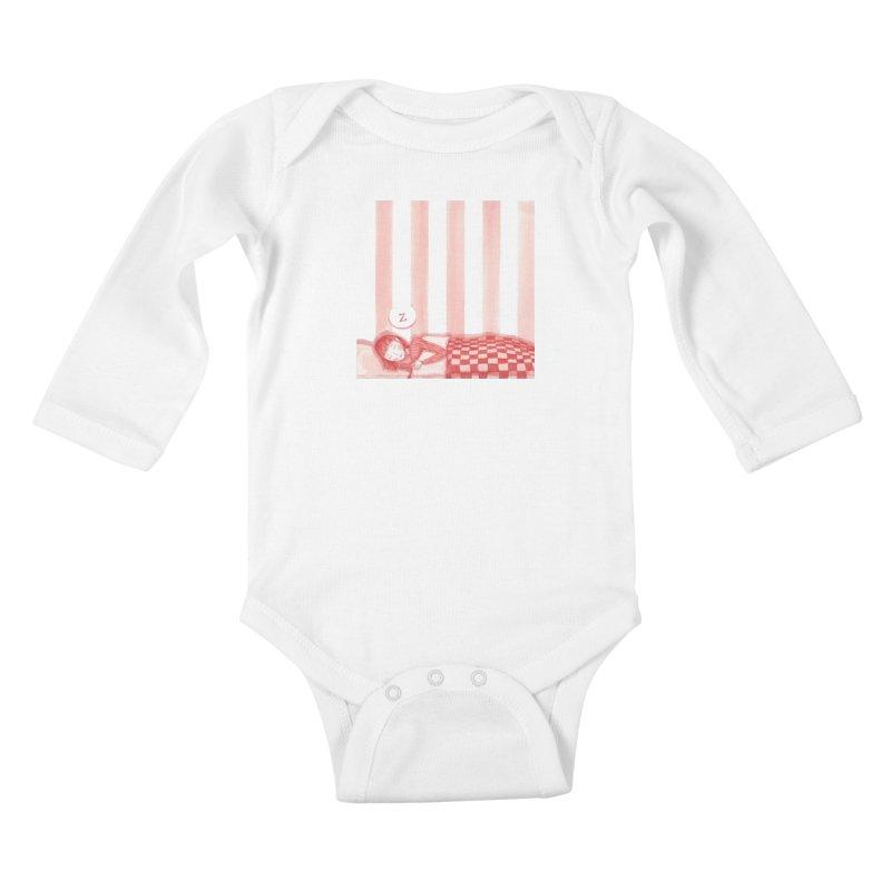 Sweet dream s Kids Baby Longsleeve Bodysuit by Angelilu's Artist Shop