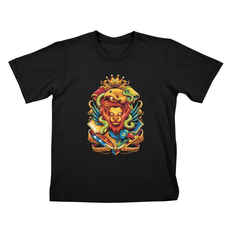 School of Magic Kids T-shirt by anggatantama's Artist Shop