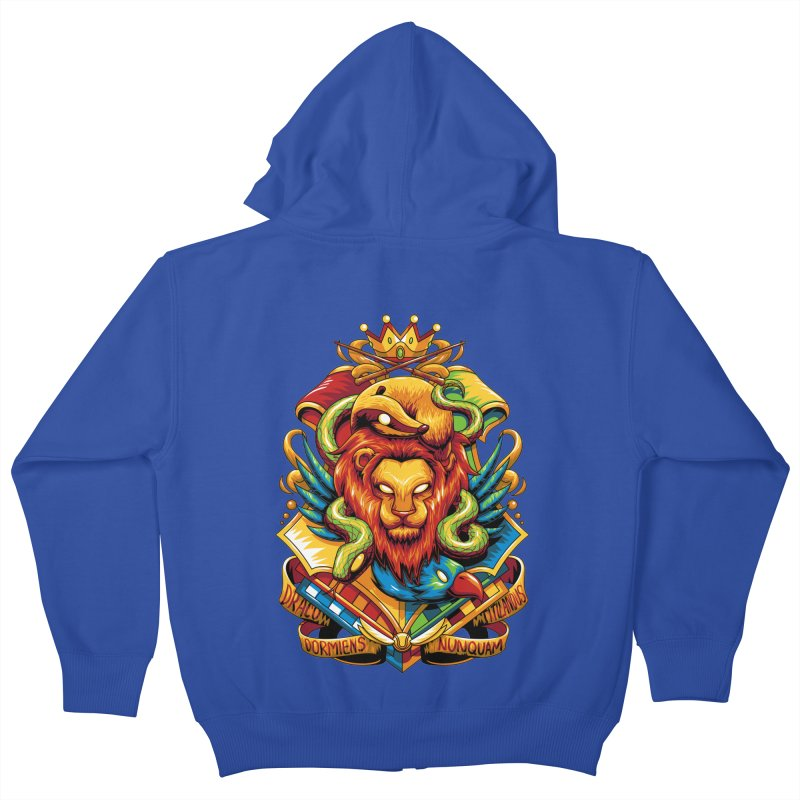 School of Magic Kids Zip-Up Hoody by anggatantama's Artist Shop