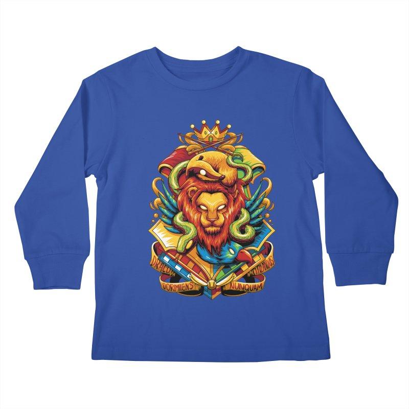 School of Magic Kids Longsleeve T-Shirt by anggatantama's Artist Shop