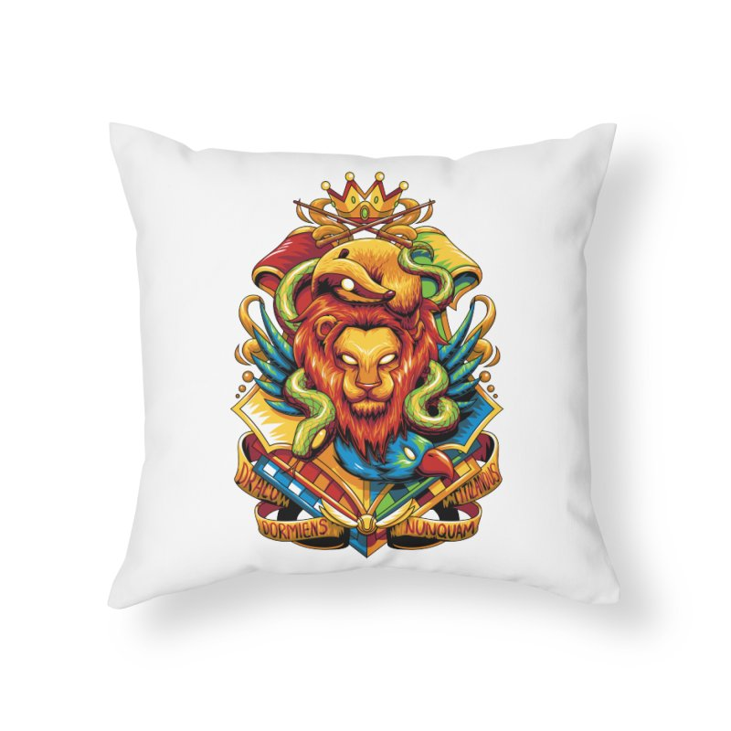 School of Magic Home Throw Pillow by anggatantama's Artist Shop