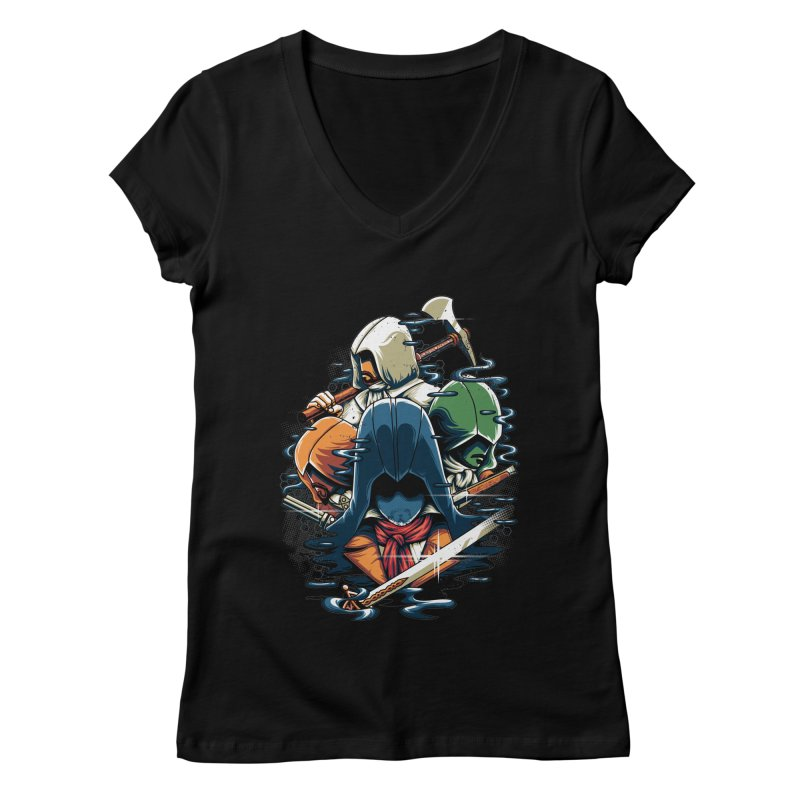 The Assassins Women's V-Neck by anggatantama's Artist Shop