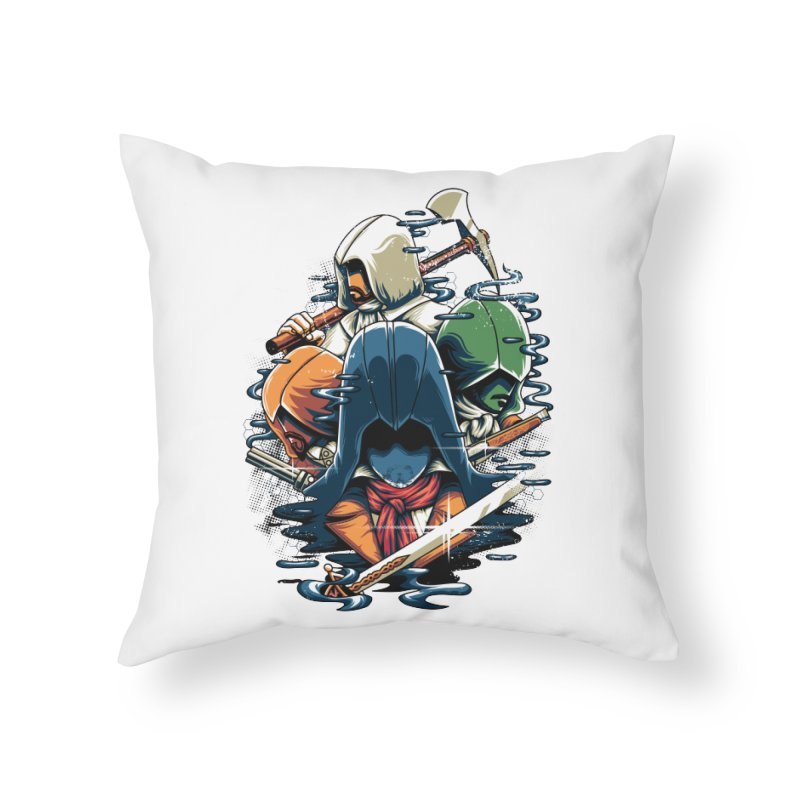 The Assassins Home Throw Pillow by anggatantama's Artist Shop