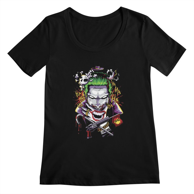 Don't Be Serious! Women's Scoopneck by anggatantama's Artist Shop