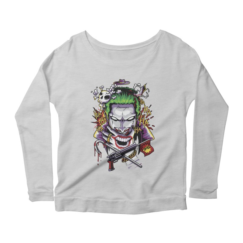 Don't Be Serious! Women's Longsleeve Scoopneck  by anggatantama's Artist Shop