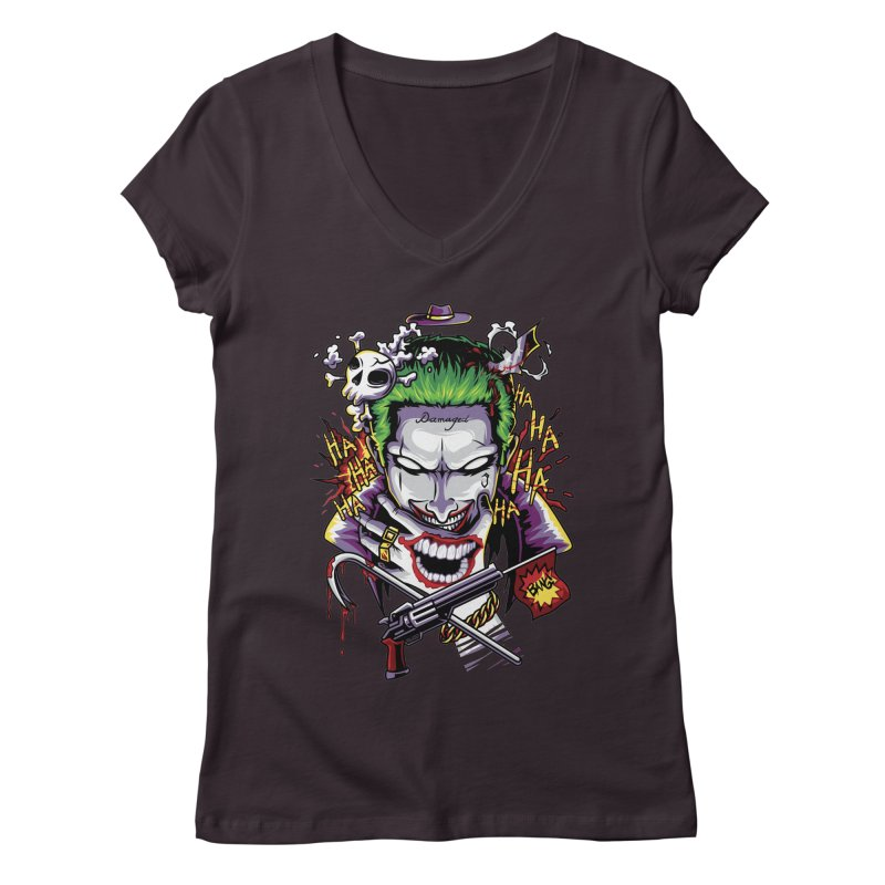 Don't Be Serious! Women's V-Neck by anggatantama's Artist Shop