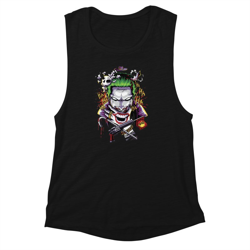 Don't Be Serious! Women's Muscle Tank by anggatantama's Artist Shop