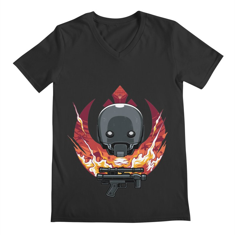 Rebellion Droid Men's V-Neck by anggatantama's Artist Shop