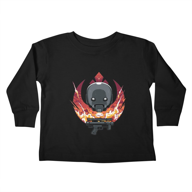 Rebellion Droid Kids Toddler Longsleeve T-Shirt by anggatantama's Artist Shop