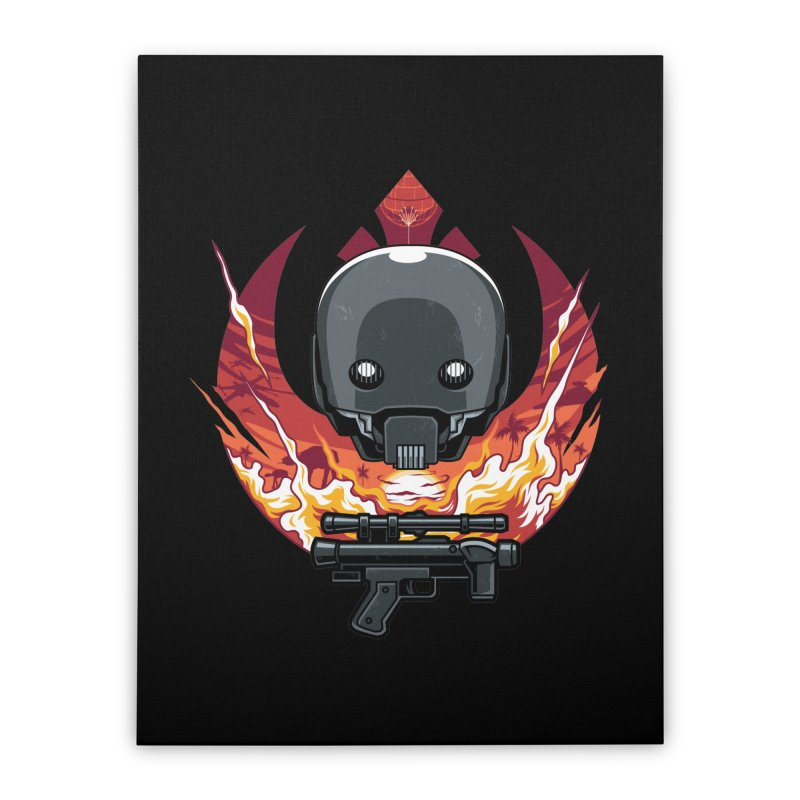 Rebellion Droid Home Stretched Canvas by anggatantama's Artist Shop