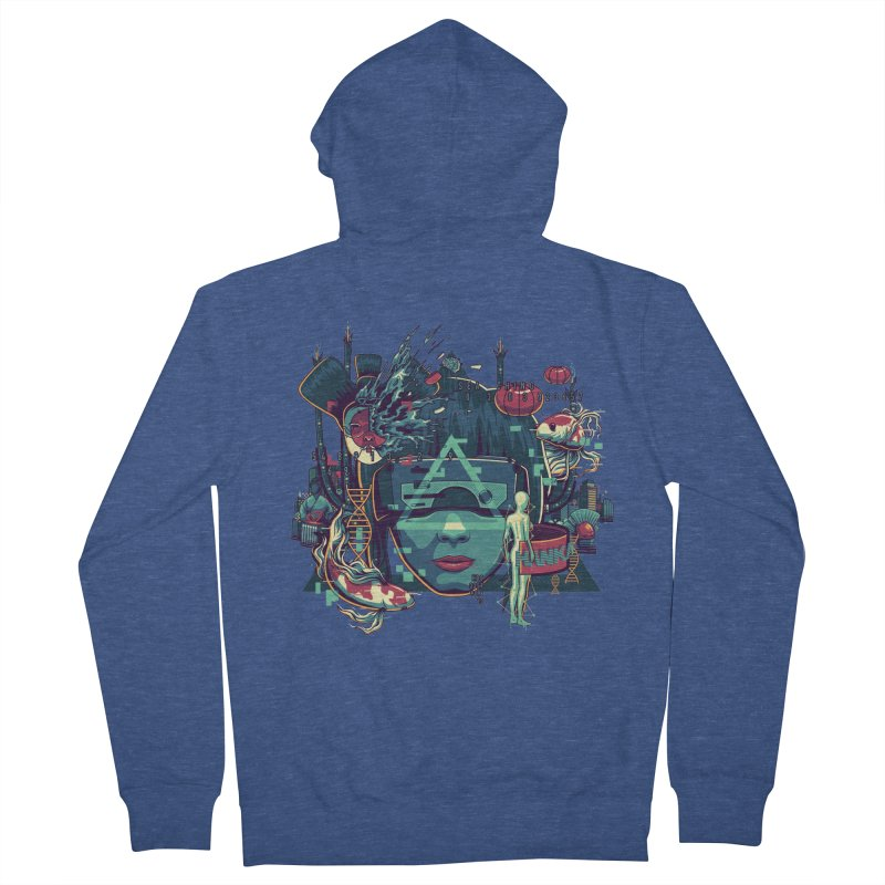 The Ghost Men's Zip-Up Hoody by anggatantama's Artist Shop