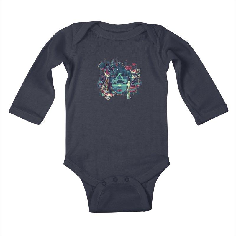 The Ghost Kids Baby Longsleeve Bodysuit by anggatantama's Artist Shop