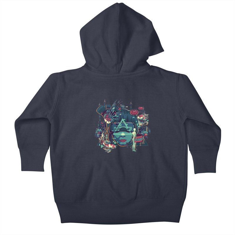 The Ghost Kids Baby Zip-Up Hoody by anggatantama's Artist Shop
