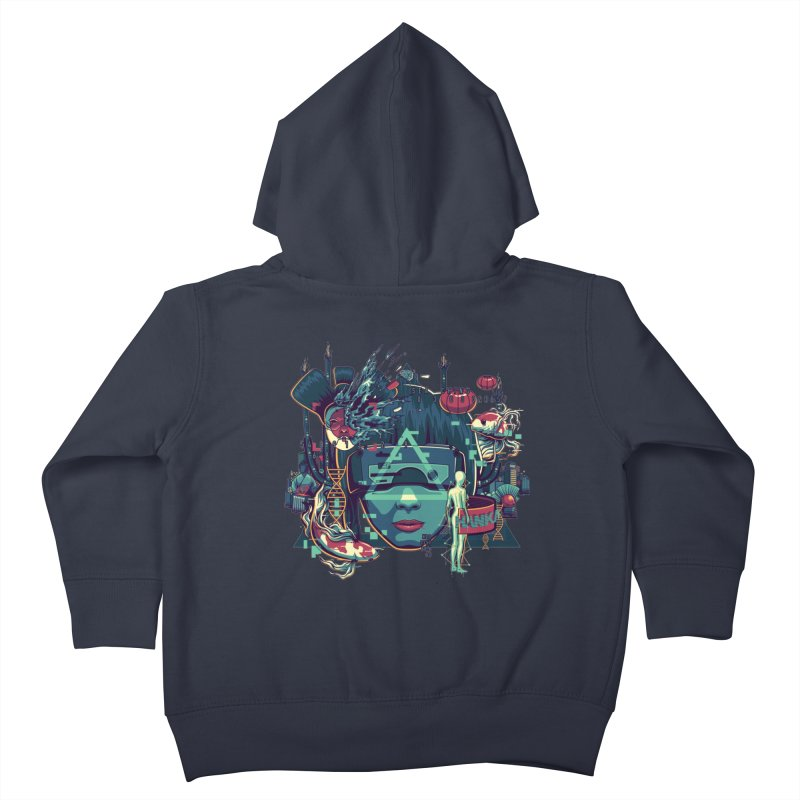 The Ghost Kids Toddler Zip-Up Hoody by anggatantama's Artist Shop