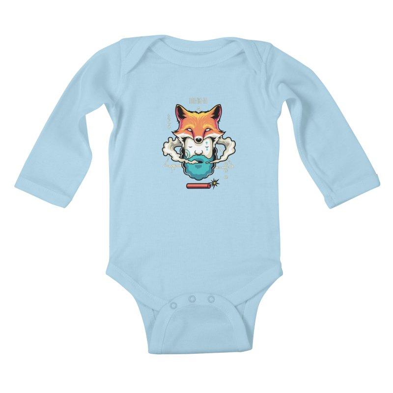 TRIBAL Kids Baby Longsleeve Bodysuit by anggatantama's Artist Shop