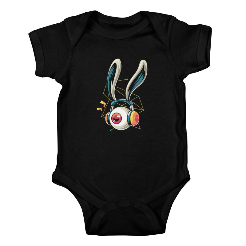 Enjoy The Beat Kids Baby Bodysuit by anggatantama's Artist Shop