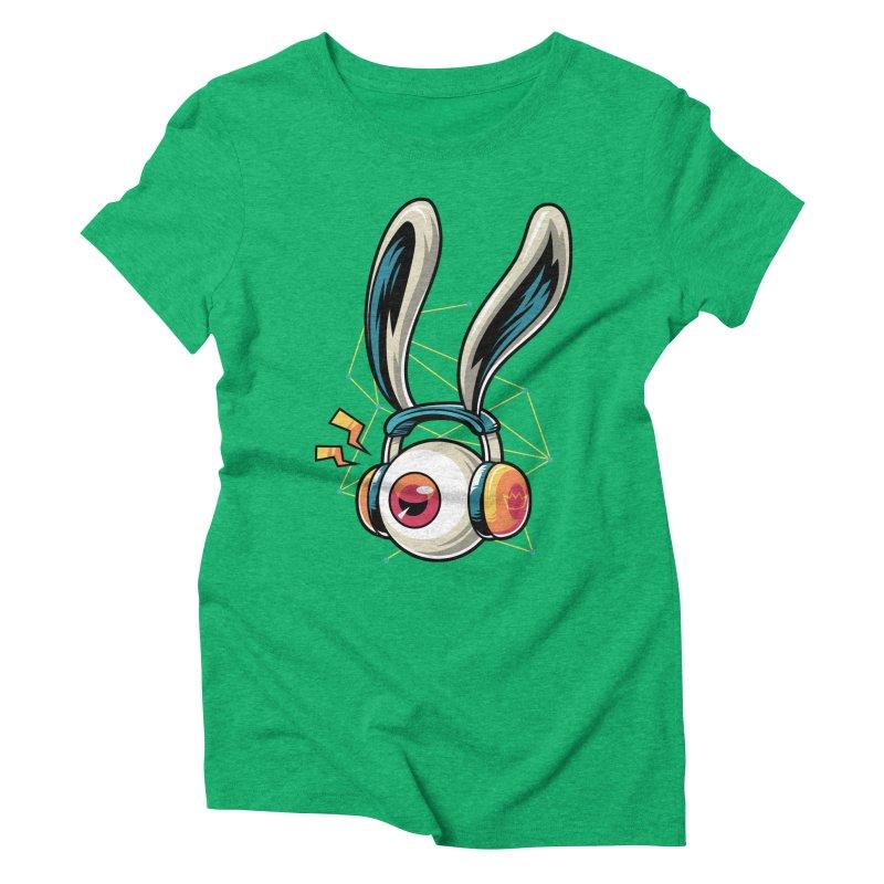 Enjoy The Beat Women's Triblend T-Shirt by anggatantama's Artist Shop